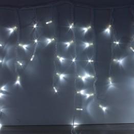 """Морозостойкая гирлянда """"Сосульки"""",100 белых светодиодов на белом проводе, 2х0,5м"""