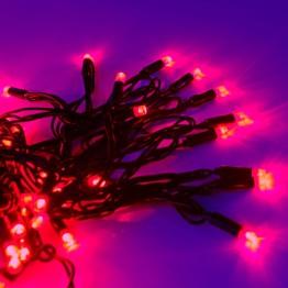 Морозостойкая гирлянда 120 красных светодиодов, 12м