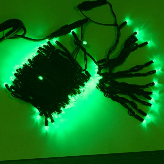 Морозостойкая гирлянда 120 зеленых светодиодов, 12м