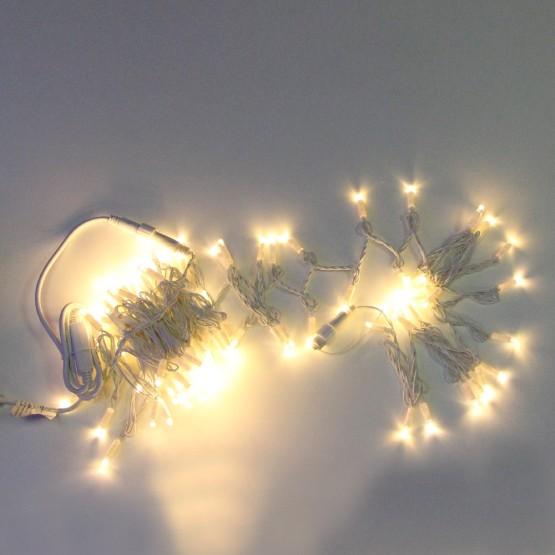 Морозостойкая гирлянда 120 белых светодиодов, 12м