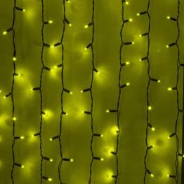 Морозостойкая гирлянда световой занавес, 740 желтых светодиодов, 2х3м