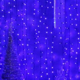 Морозостойкая гирлянда световой занавес, 740 синих светодиодов, 2х3м