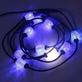 """Гирлянда """"Диамант"""", 10 синих ламп со вспышкой"""