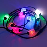 "Гирлянда ""Диамант"", 9 разноцветных ламп со вспышкой"