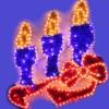 Новогоднее украшение арт. YY100223D – панно «Cвечи»