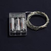 Гирлянда 30 минидиодов мульти, на батарейках 3xAA