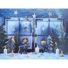 """Картина со светодиодами """"Рождественская сказка"""""""