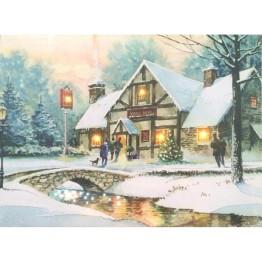 """Картина со светодиодами """"Зимний пейзаж"""""""