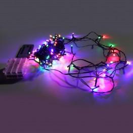 Гирлянда с дистанционным пультом, 12м, разноцветные светодиоды
