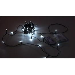 Гирлянда с дистанционным пультом, 12м, белые светодиоды