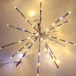 "Электорогирлянда ""ЕЖ""  40 см, 80 LED, белый плюс теплый белый"