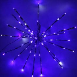 "Электорогирлянда ""ЕЖ"" 40 см, 80 LED, хол. бел плюс синий"