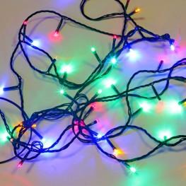 Электрогирлянда внутренняя  120 LED, 12 м,мульти, 8 реж.