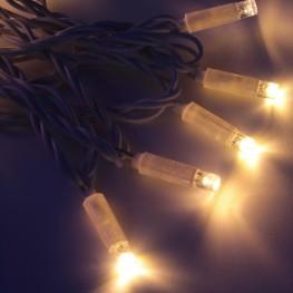 Морозостойкая гирлянда, 120 теплых белых светодиодов, 12м