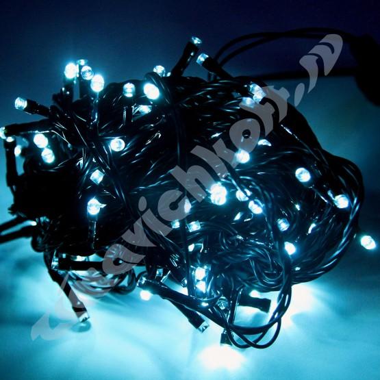 Гирлянда с аквамариновыми светодиодами DC-LD120-OG-E