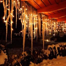 """Гирлянда """"Сосульки"""", 100 тёплых белых светодиодов"""