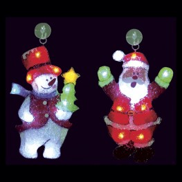 "Световое панно ""Снеговик и Санта-Клаус"""