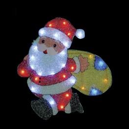"Световое панно ""Санта-Клаус с мешком"""
