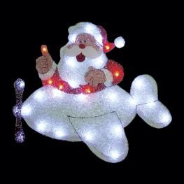 "Световое панно ""Санта-Клаус на самолете"""