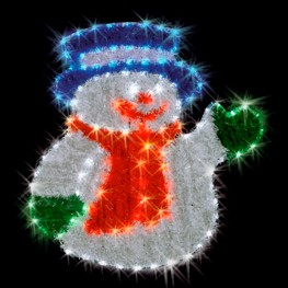 """Световое панно """"Снеговик"""", уличное"""