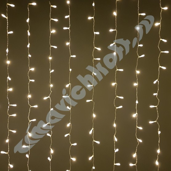 "Гирлянда ""Занавес"" на 500 светодиодов, тёплый белый"