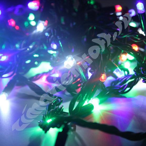 Морозостойкая гирлянда 120 фиолетовых  светодиодов, 12м