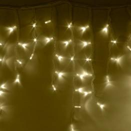 """Морозостойкая гирлянда """"Сосульки"""" 100 тёплых белых светодиодов"""