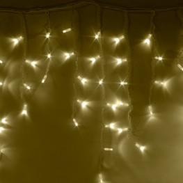 """Морозостойкая мерцающая гирлянда """"Сосульки"""" 100 тёплых белых светодиодов"""
