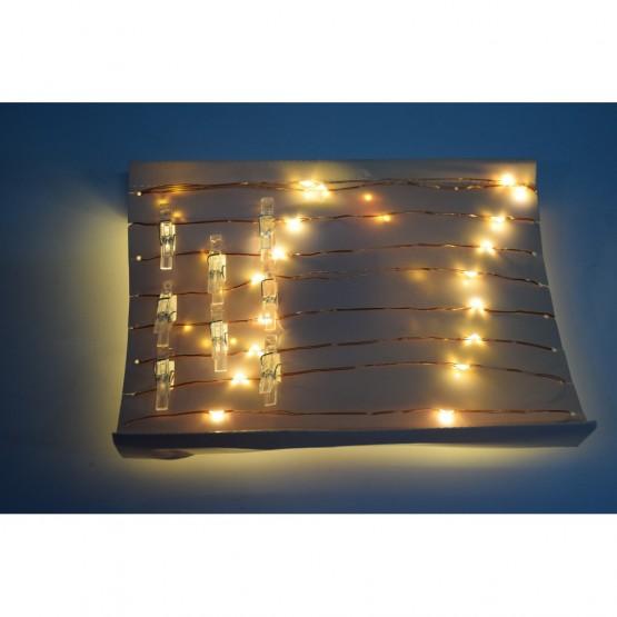 Гирлянда 30 белых светодиодов ILD-30WW-BO-PN