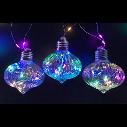 Гирлянда Лампы 60 светодиодов мульти, на батарейках